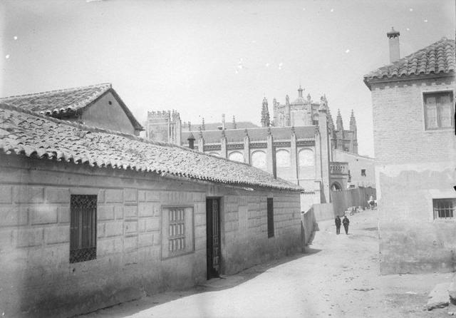 Calle Reyes Católicos y San Juan de los Reyes en 1899. Fotografía de René Ancely © Marc Ancely, signatura ANCELY_1899_2547_2551