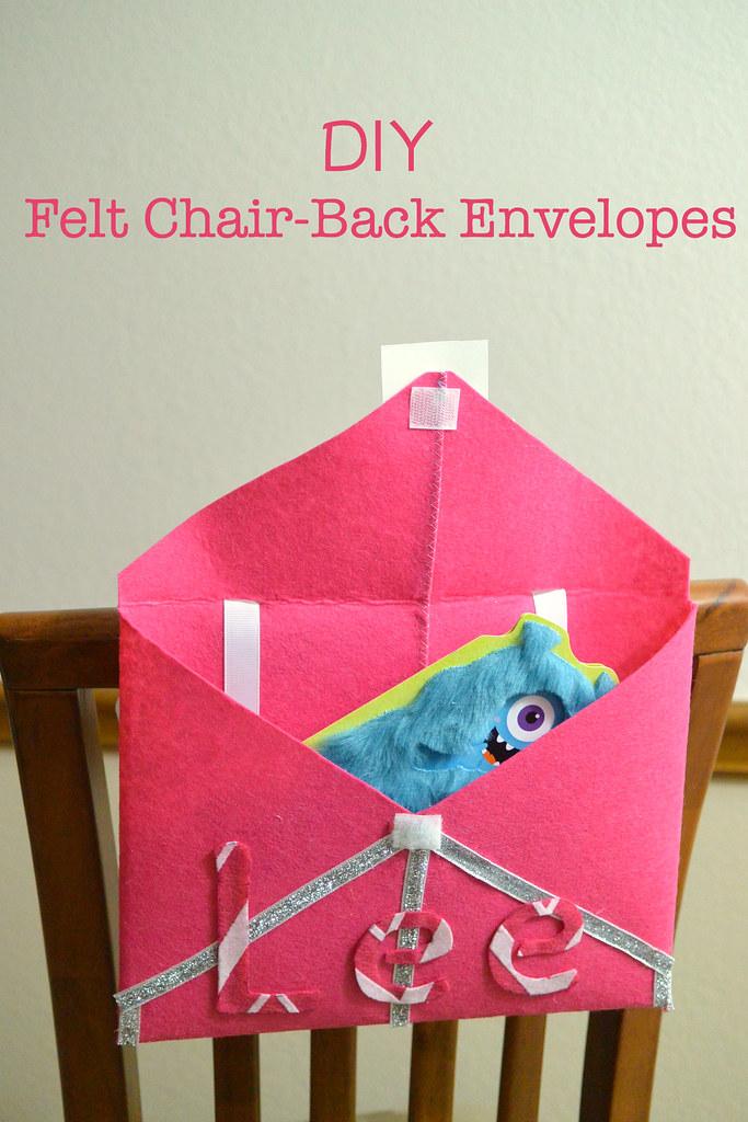 DIY Felt Chair Back Envelopes