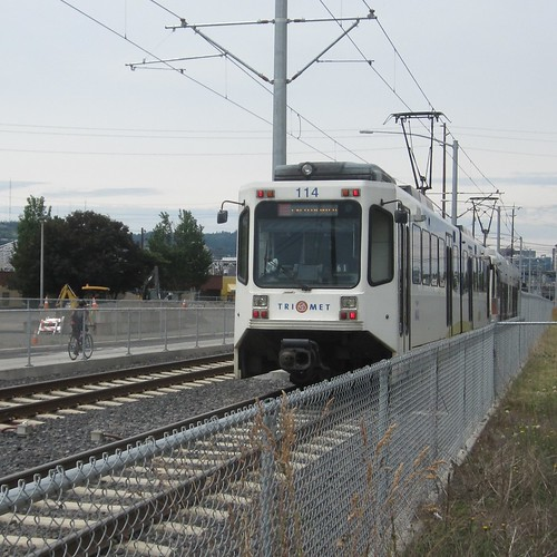 The east end of a westbound interurban