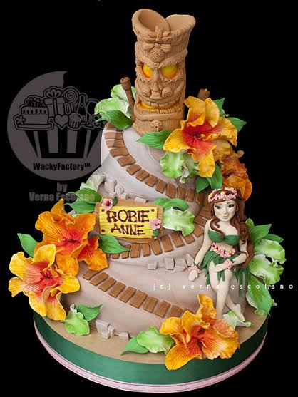 18th Birthday Hawaiian Themed Cake By Verna Escolano