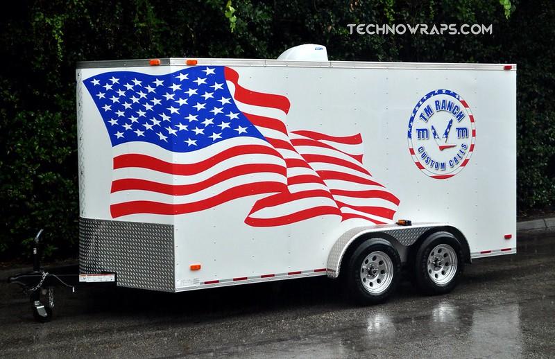 American flag themed trailer wrap in Orlando