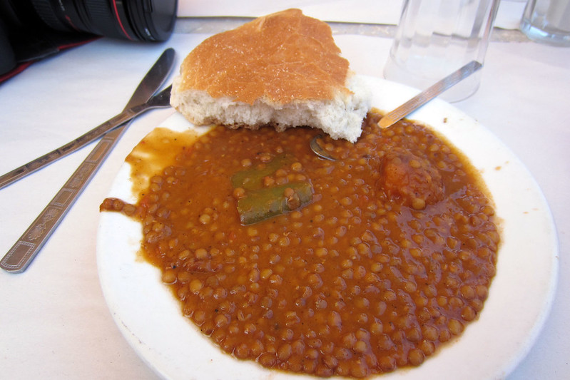 Bread and lentils