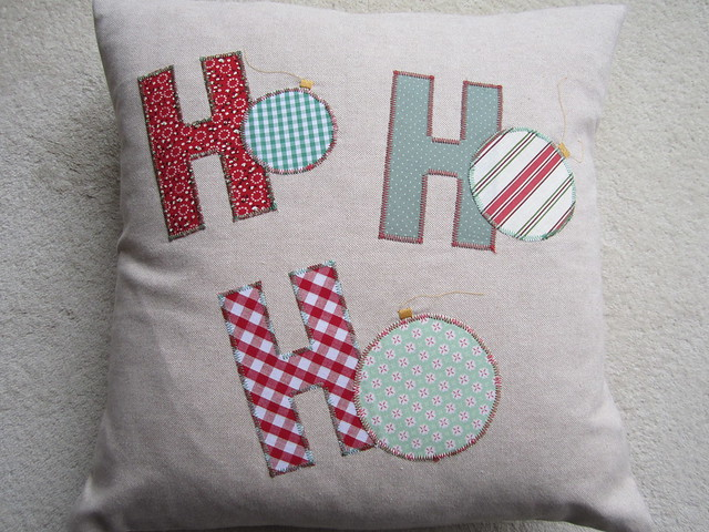 Ho Ho Ho applique cushion (8)