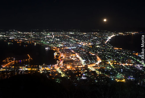 trip travel winter tourism beautiful beauty japan night spectacular asia hokkaido tour view top visit southeast visiting hakodate moutain ropeway cityview nightlandscape ladnscape