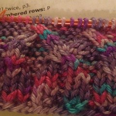 First #knit #cables. Not sure if I'm turning the right direction. Lol.
