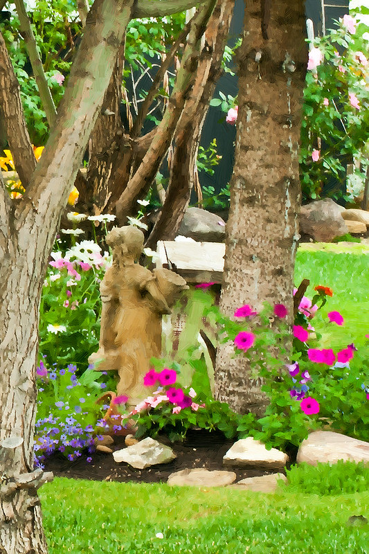 Garden Girl - Garden Scene