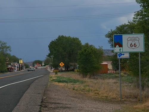 Route 66, Seligman, Arizona at Dusk