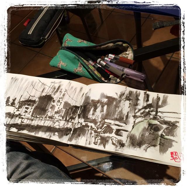 #urbansketch #zumarraga #pentelbrush