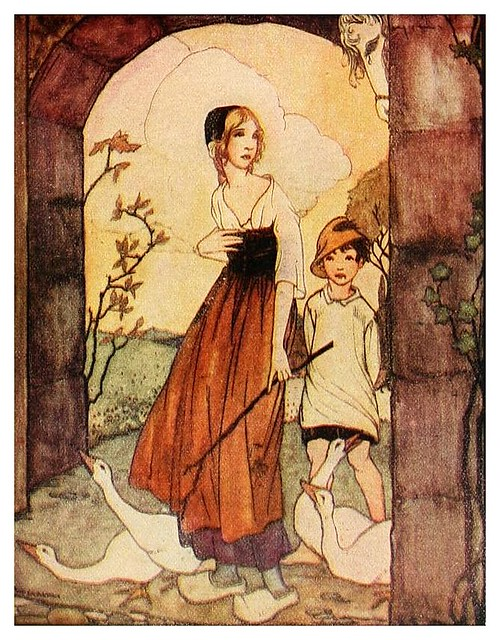 009- La chica de los gansos-Grimm's fairy tales-1927-Ilust. Rie Cramer