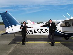 Ana C Guzmán - First Student Pilot Solo Flight
