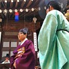Scene from a traditional Korean wedding in Seoul.