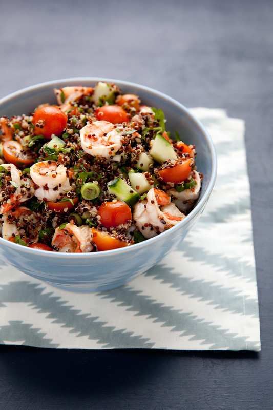 Let's Do Lunch: Quinoa Tabbouleh with Lemony Shrimp
