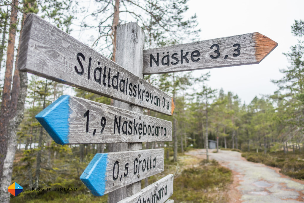 Signs in Skuleberget National Park