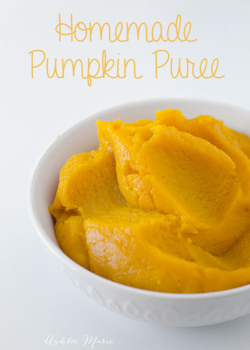 making your own pumpkin puree is easy to do and tastes amazing