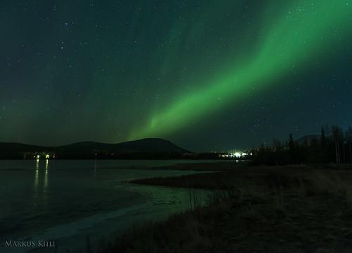Auroras at Äkäslompolo