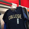 "Nothing says, ""I didn't go to college."" Like this shirt from the Old Navy clearance section."