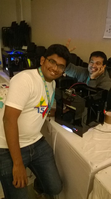 Reddy from Redd Robotics with his new printer