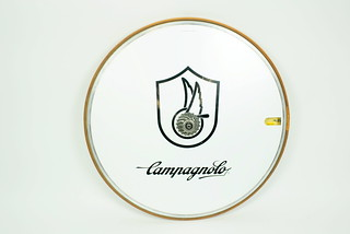 Sun, 11/23/2014 - 15:11 - 1.The Campagnolo Ghibli 700c rear disc wheel was perhaps the first highly coveted (and largely unavailable) piece of cycling equipment in triathlon. There were precious few coming out of Campy Europe and the price in 1984 was between $2500--$3000. The wheels had been re-cycled from European pro teams that used them in time trials. To show up on race day with one of these was a badge of accomplishment, skill, money, or connections. They were noisy and heavy but on a mostly flat course, much faster than a spoked-wheel. One of the many nuanced challenges was inflating them. This required a specially-fabricated L-shaped device to be fit onto the pump hose. It looked like a 70s hash pipe and there were times when customs agents had some hard questions for those of us who traveled with the adapter.