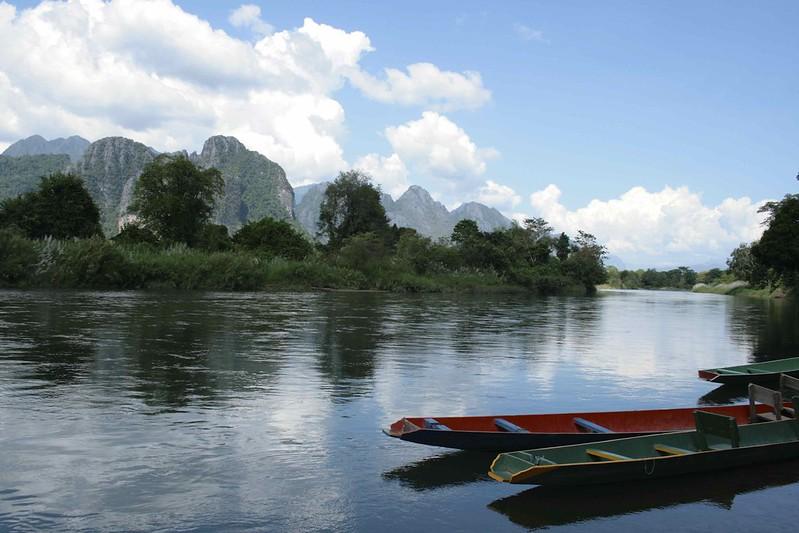 Paisaje en Viang Vieng, Laos, ©evaespinet