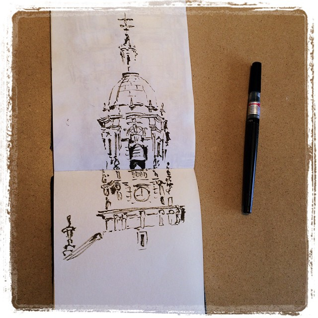 #urbansketch #eskoriatza #pentel #unfinished