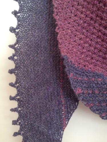 Copenhagen scarf picot edge