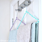 Beaded hanger towel tutorial