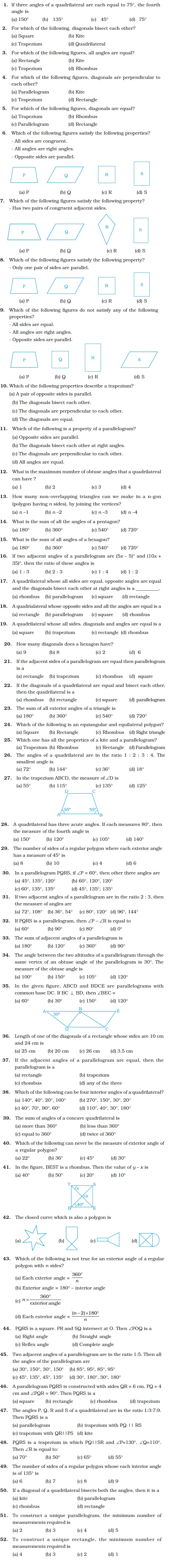 class important questions for maths understanding class 8 important questions for maths understanding quadrilaterals and practical geometry