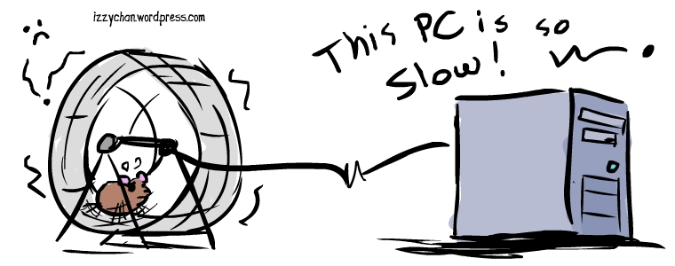 this computer is so slow hamster wheel
