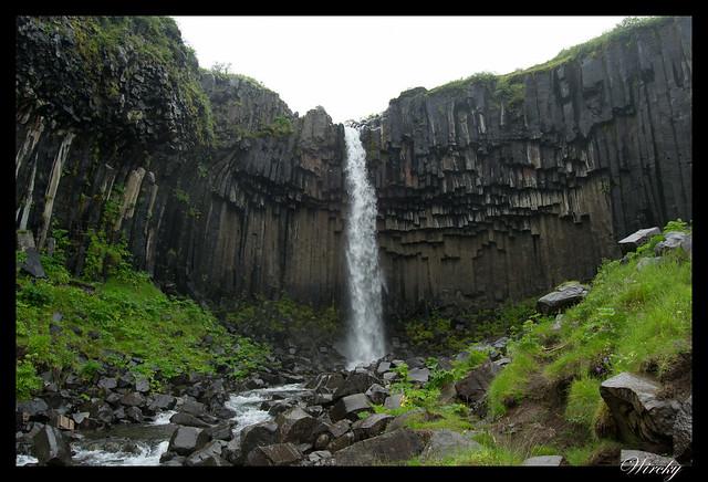 Islandia Vík Eldhraun Skaftafellsjökull Svartifoss Jökulsárlon - Cascada Svartifoss