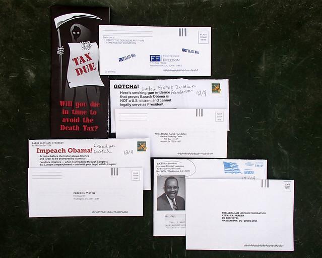 4 Random Political Junk Mail