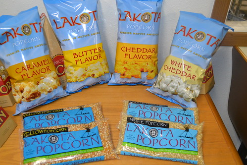 Popcorn produced for sale at Lakota Foods in South Dakota. Photo by Tammi Schone, USDA.