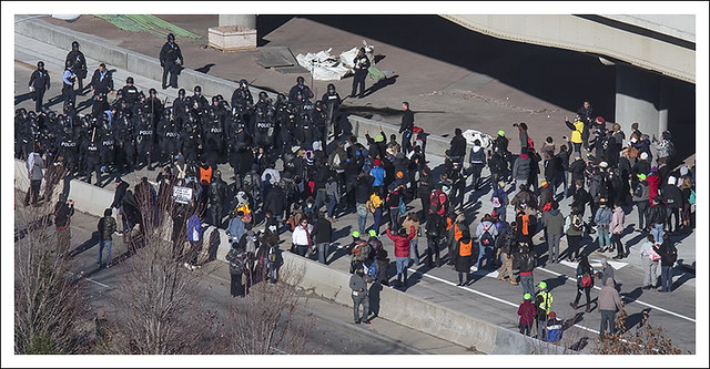 Protesters Close I 70 2014-11-25 4