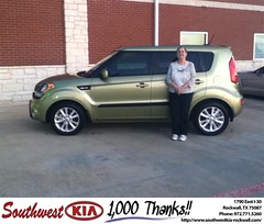 #HappyAnniversary to Nanette Rampy on your 2013 #Kia #Soul from Paula Lovejoy at Southwest KIA Rockwall!