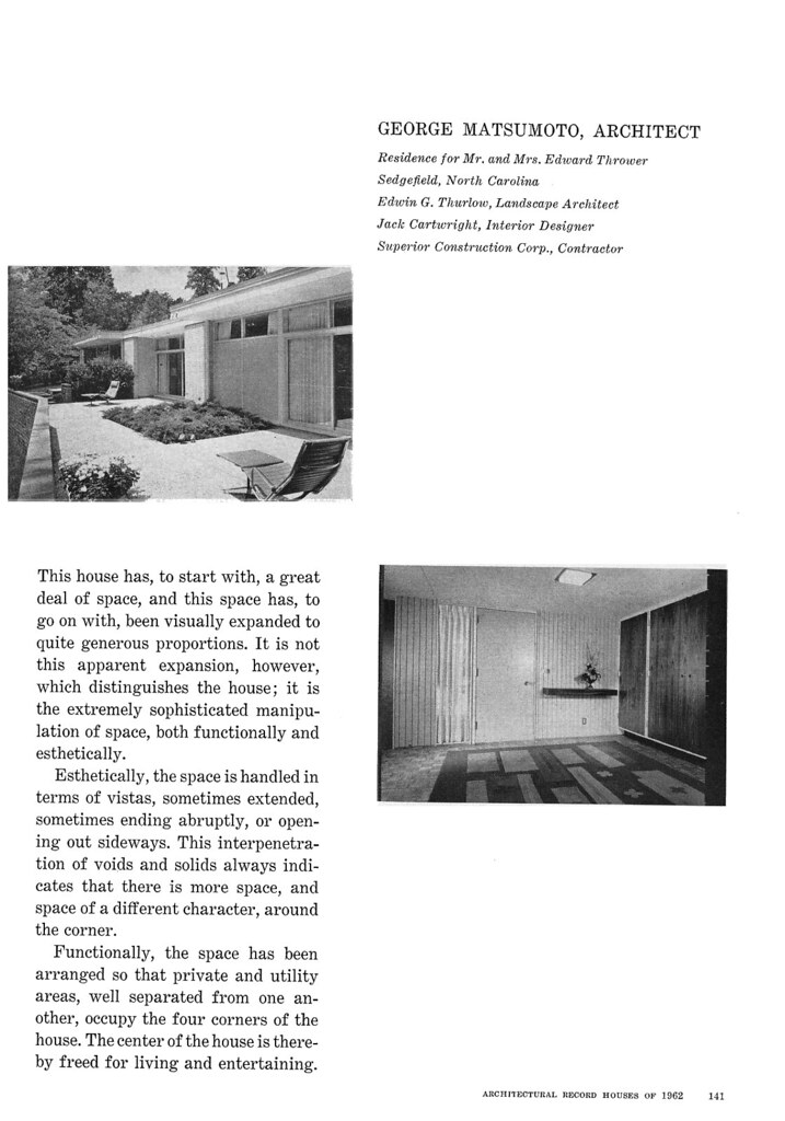 Thrower Residence, Sedgefield, NC, 1962 (Page 2 of 6)