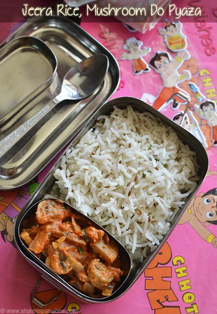 Jeera Rice Mushroom Pyaza