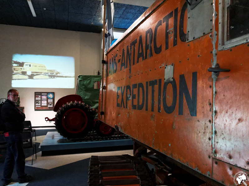 Section sur l'Antarctique du Canterbury Museum