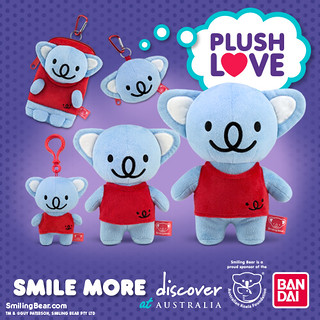 Koala Plush Love from Smiling Bear & Bandai
