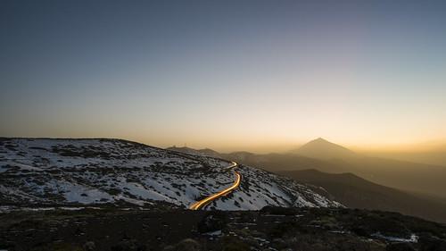sunset españa snow azul atardecer spain nikon nieve canarias tenerife teide canaryislands calima laorotava d810 1424mm