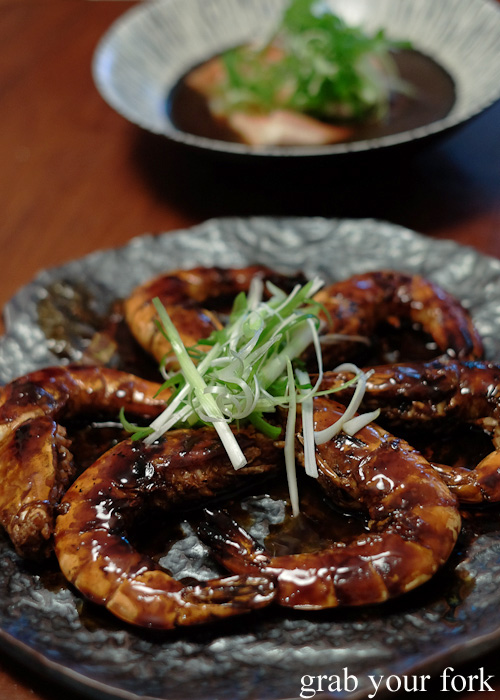 Wild tiger prawns with supreme soy sauce