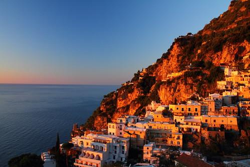 morning italy heritage sunrise dawn coast twilight europe italia positano amalfi daybreak worldheritage