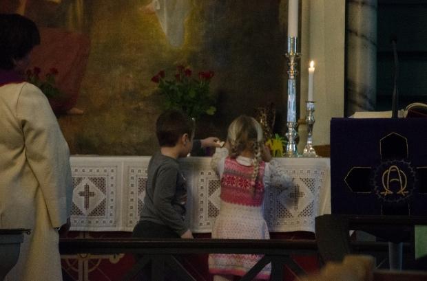 at church | nativity scene