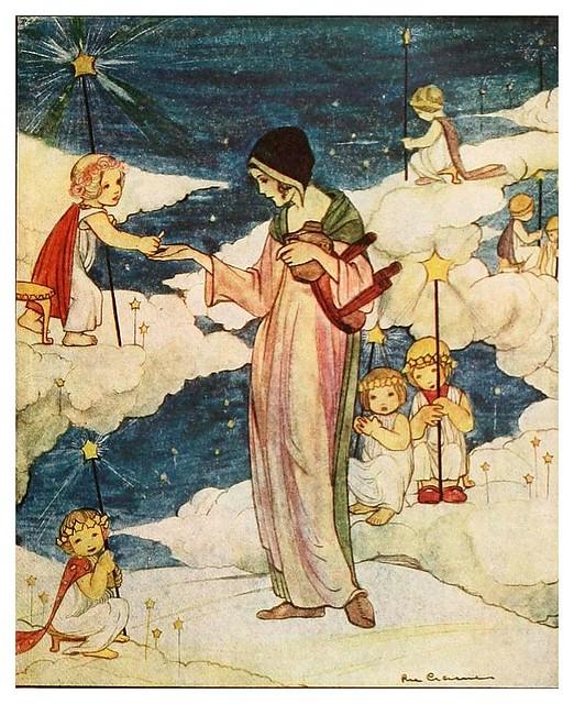 004-Los siete cuervos-Grimm's fairy tales-1927-Ilust. Rie Cramer