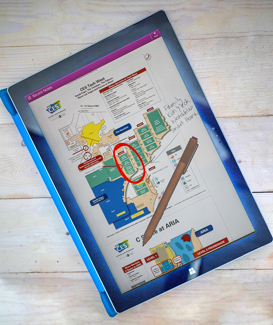 CES Planning with Microsoft Surface Pro 3