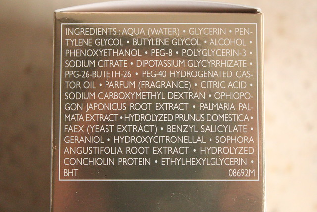 Guerlain Blanc de PERLE lotion ingredients
