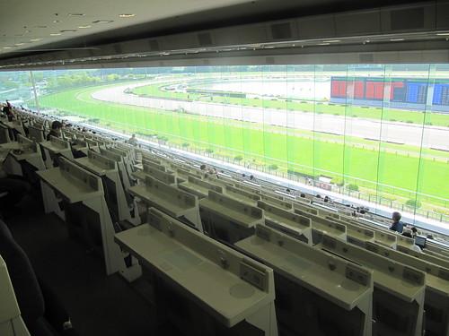 京都競馬場の6階A指定席