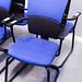 Blue black meeting chair