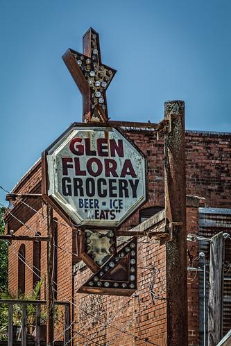 old ice beer sign lights star us texas unitedstates arrow grocery meats wharton glenflora