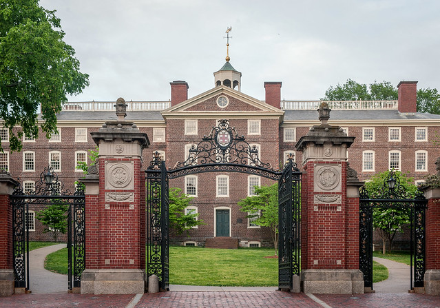 Van Wickle Gates and University Hall