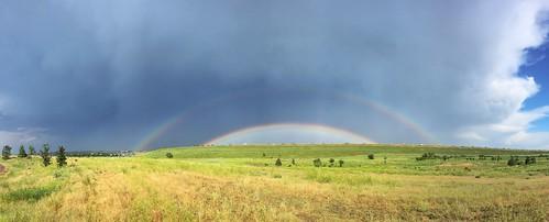 storm rain clouds rainbow dam cherrycreekstatepark colorad