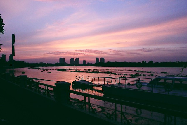 Ho Chi Minh riverside.